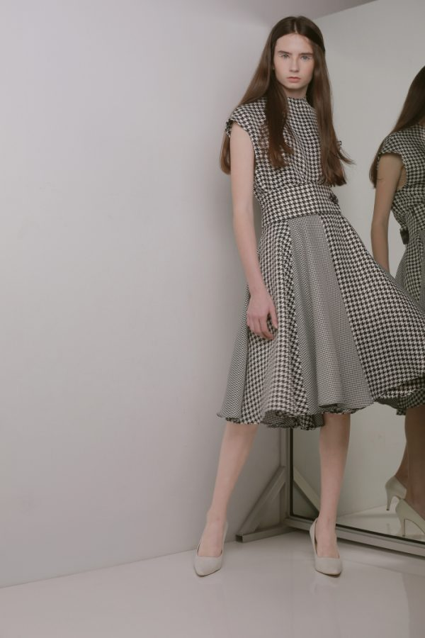 Day and Night DOUBLE HOUNDSTOOTH SKIRT
